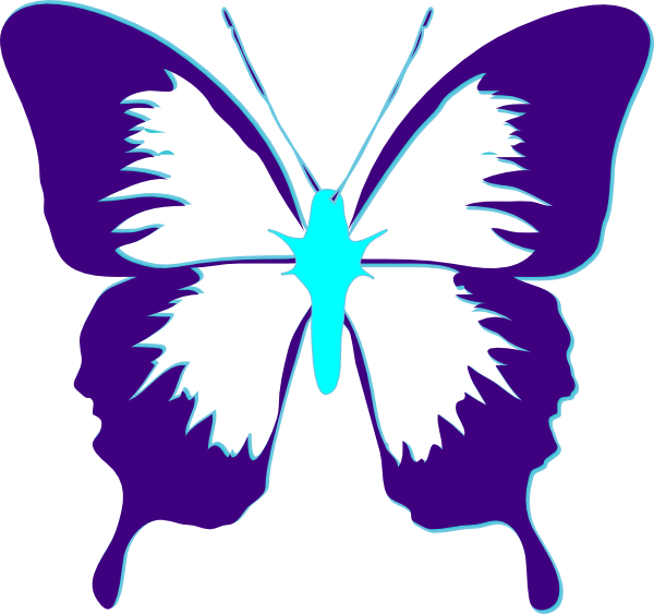 clipart butterfly monogram