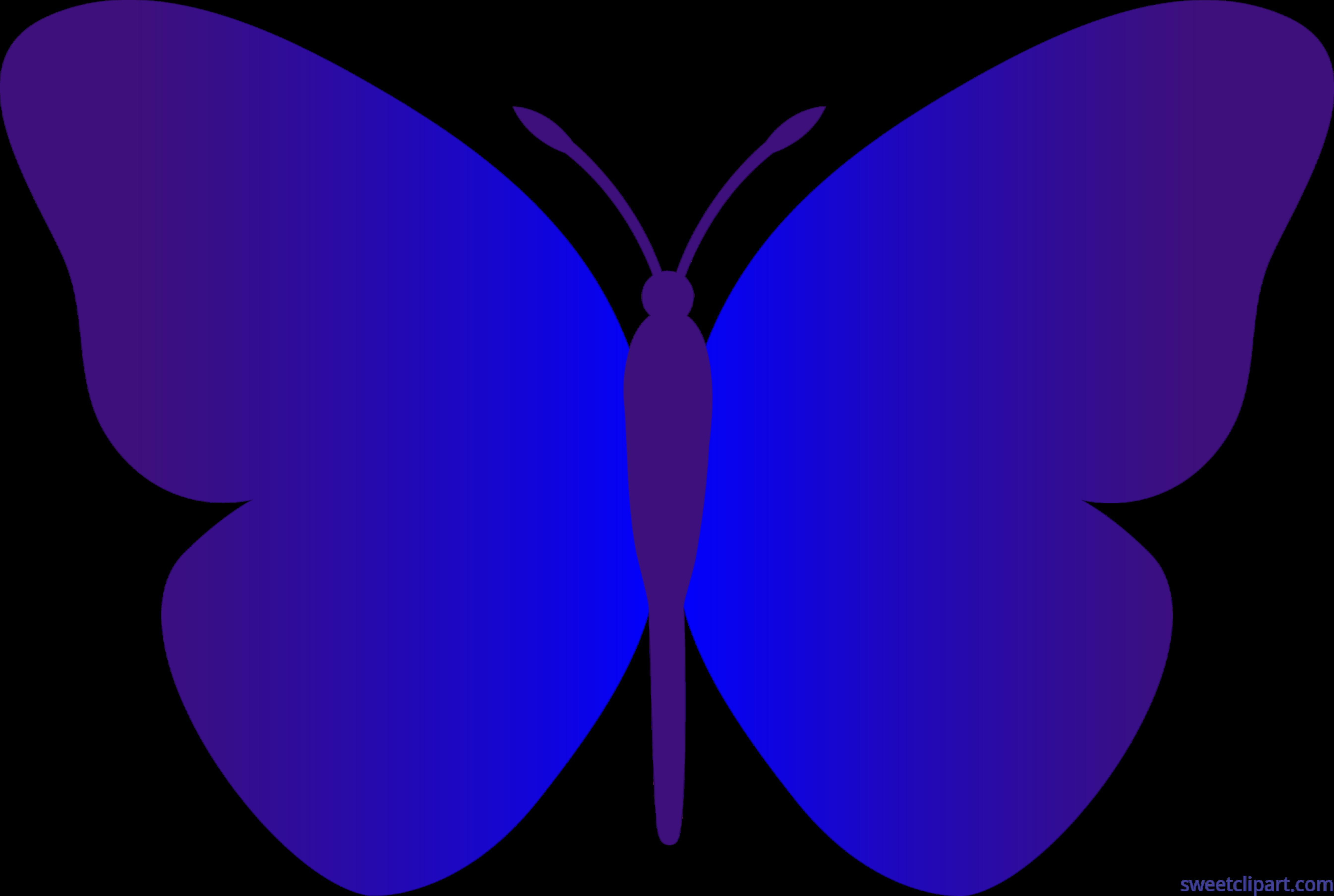 Blue clip art sweet. Clipart butterfly music