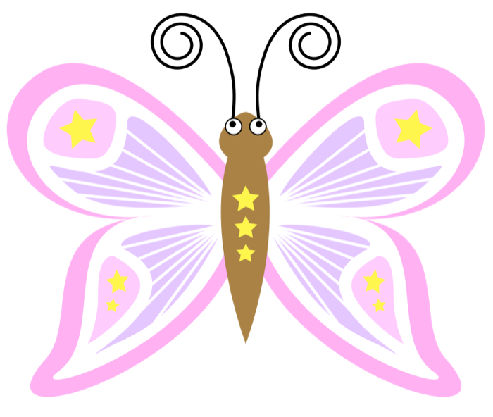 Moth clipart animated. Free graphics of butterflies