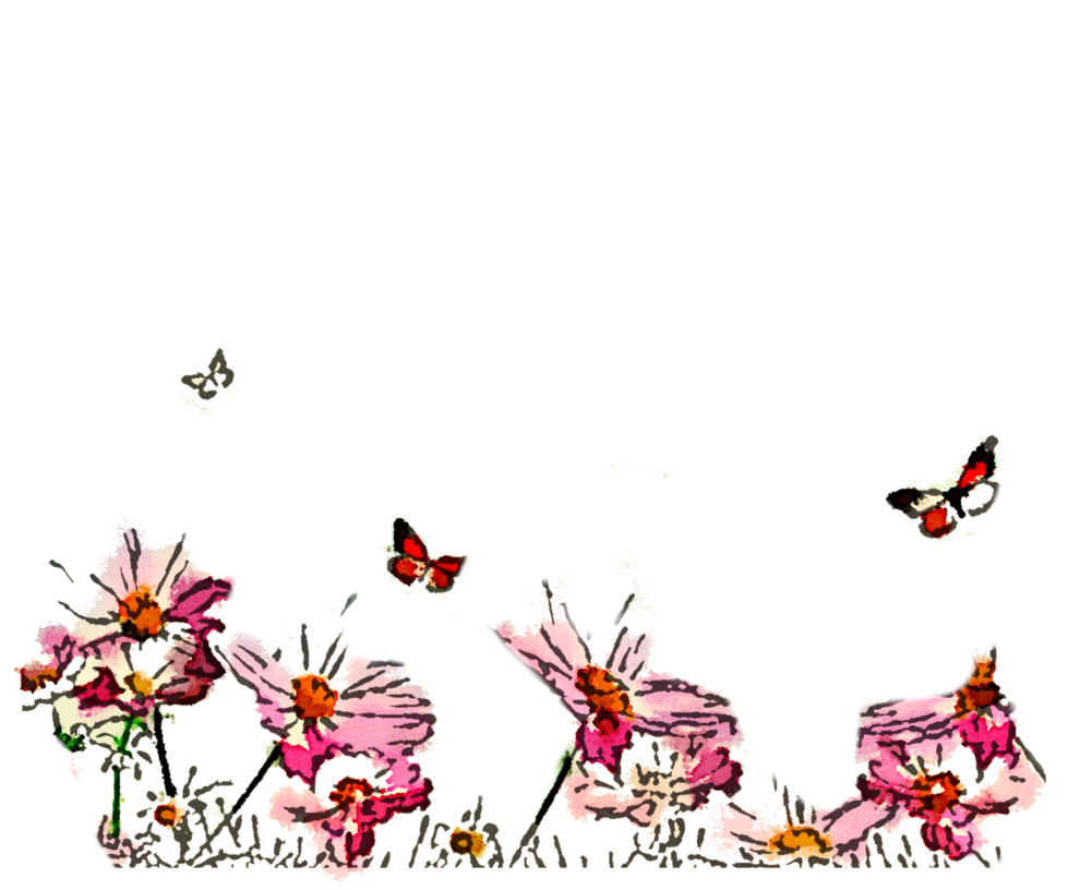 Clipart grass butterfly. Free watercolor png nature