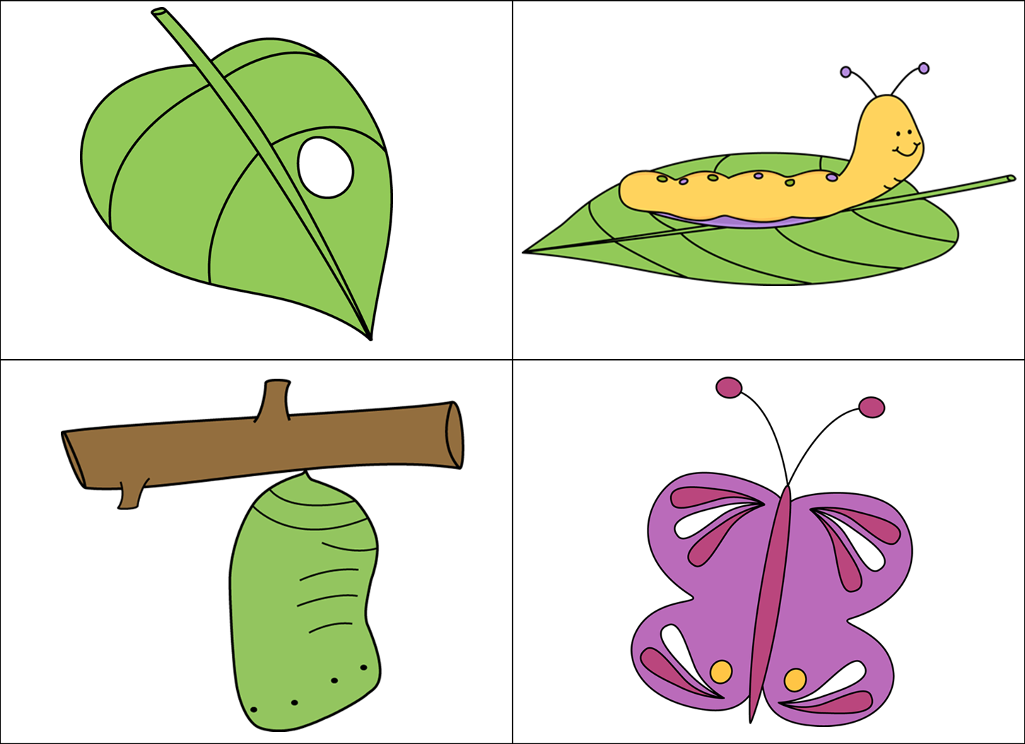Clipart butterfly nature. Kindergarten giggles n grins