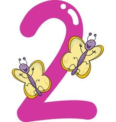 Clipart butterfly number. Two vector ro n