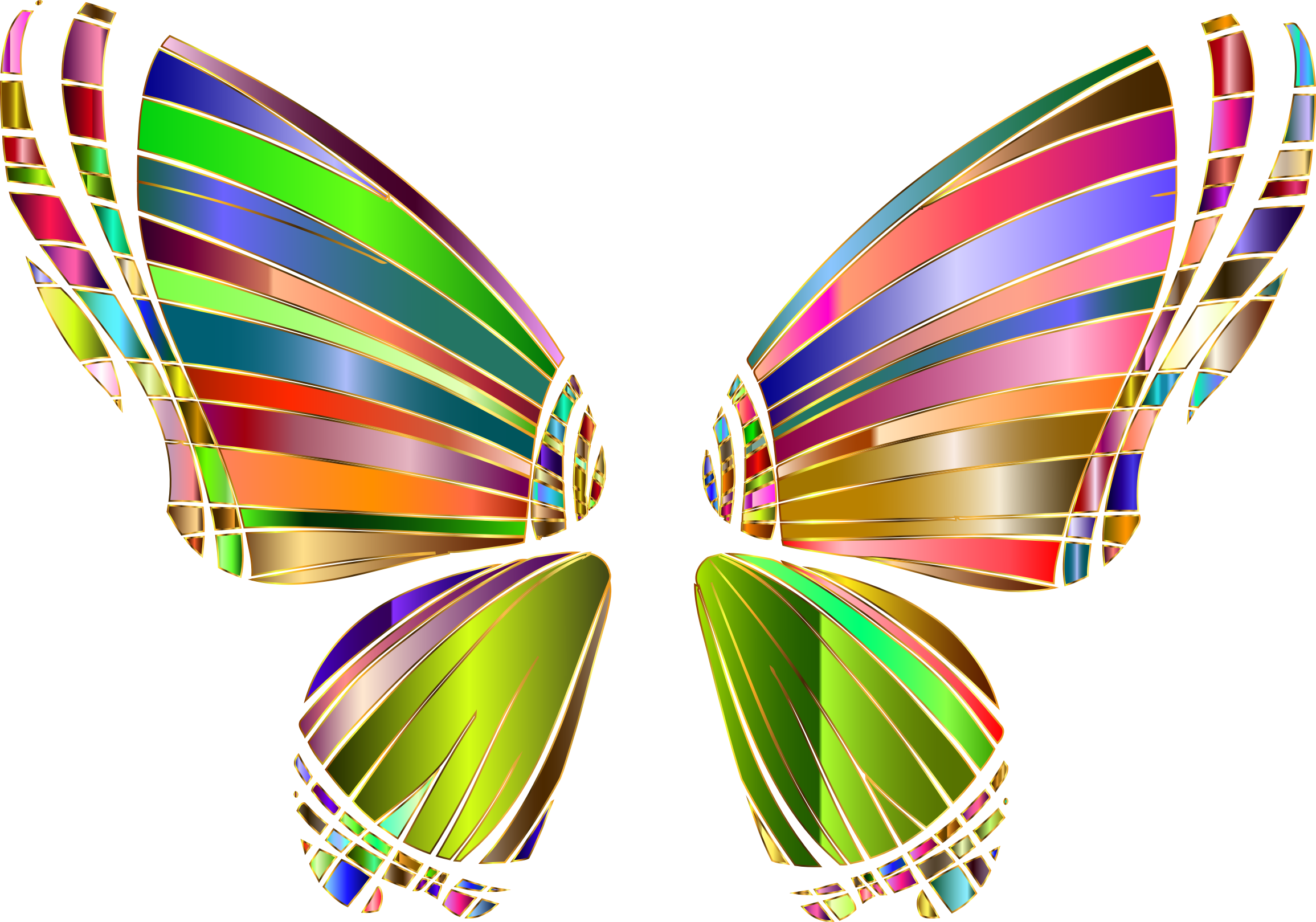 Rgb silhouette no background. Clipart butterfly number