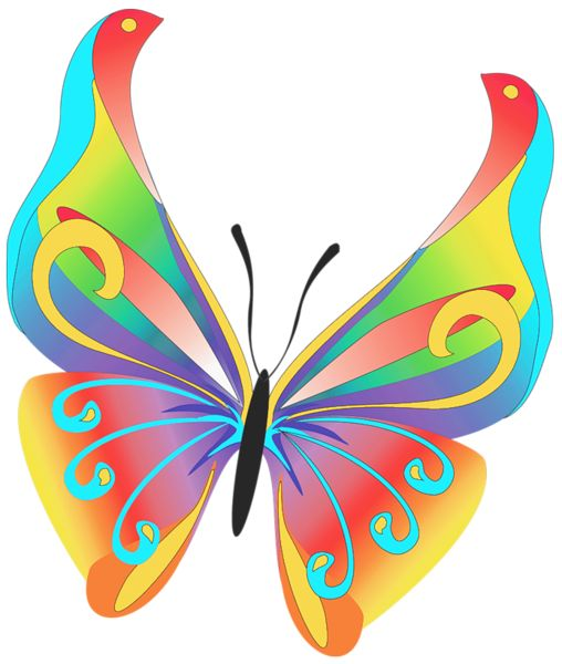 Clipart butterfly number. One clip art library