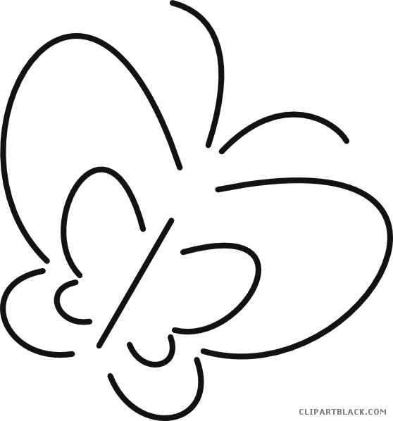 Clipartblack com animal free. Clipart butterfly outline
