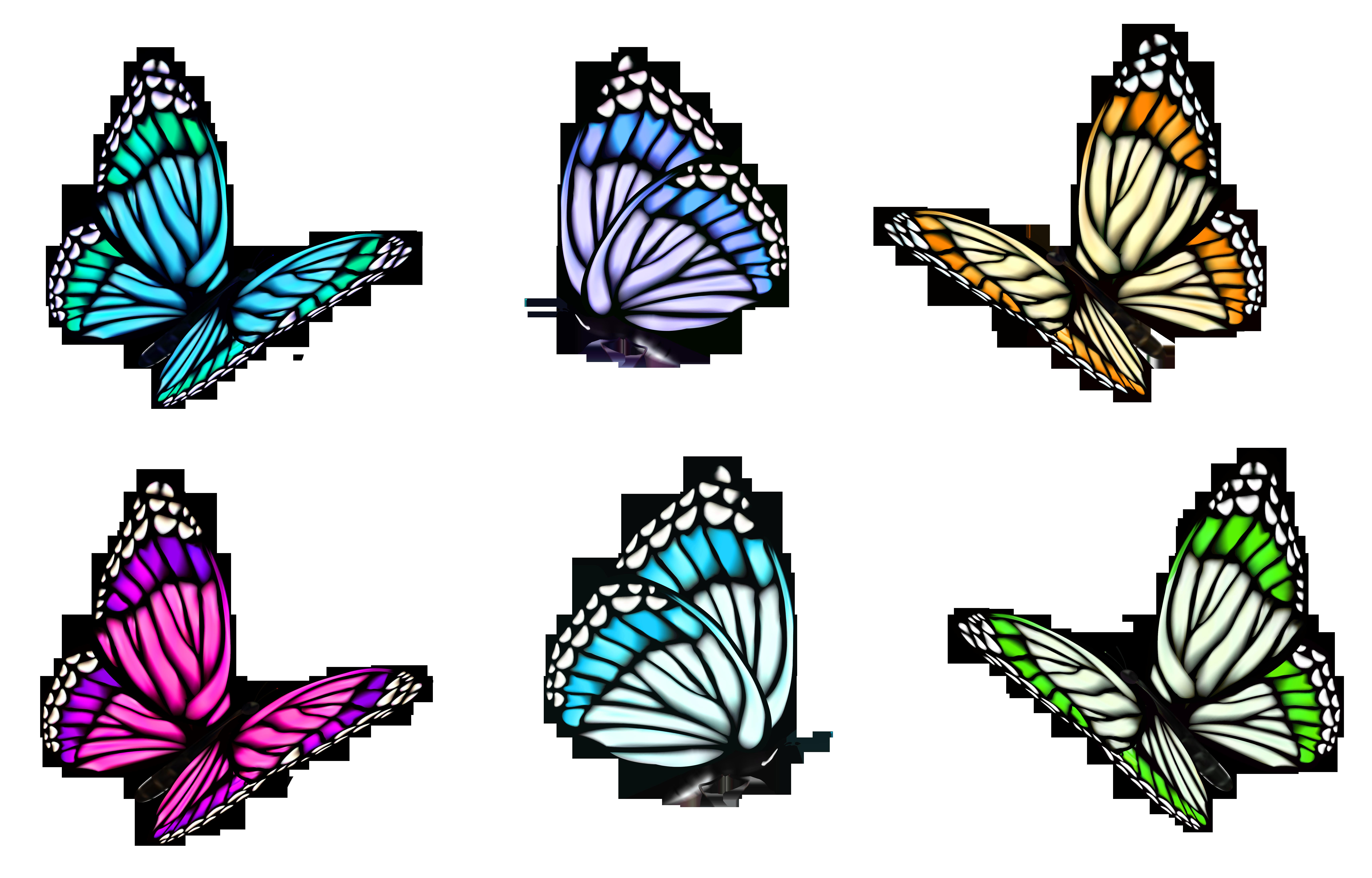 Transparent set png butterflies. Paisley clipart butterfly