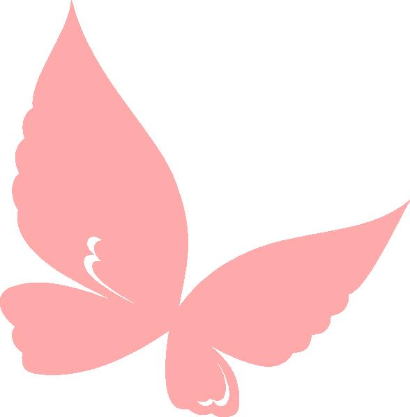 Clip art at clker. Clipart butterfly peach