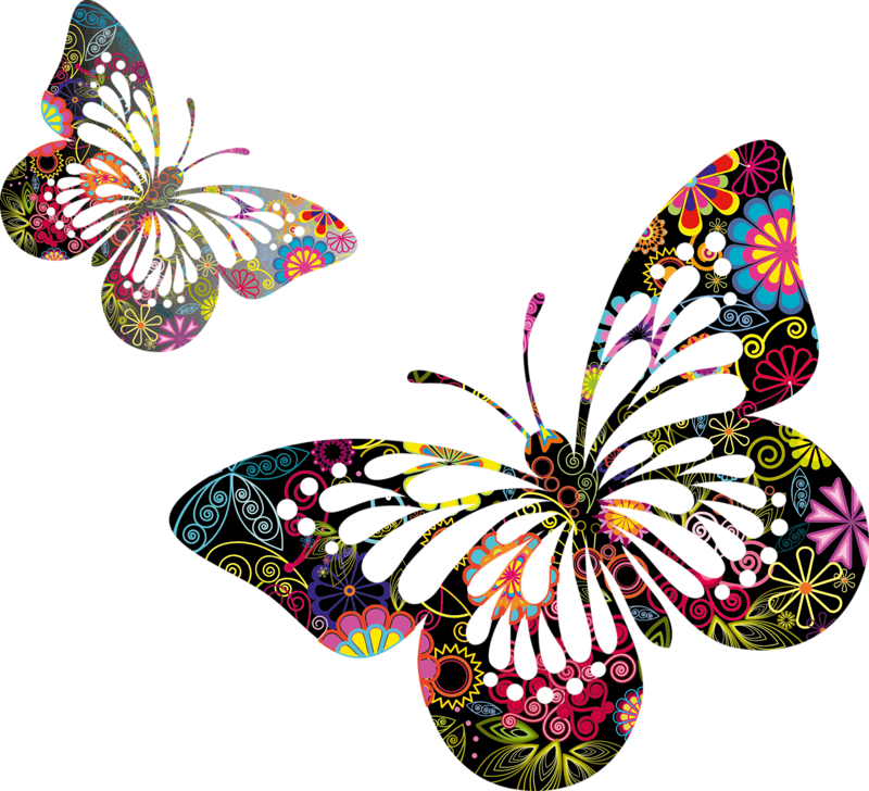 Papillons png tubes borboleta. Clipart butterfly peach