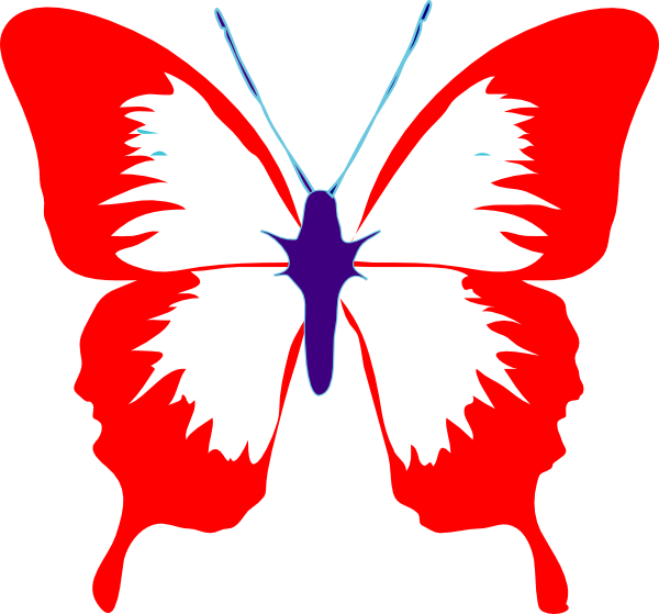 Red mid clip art. Clipart butterfly peach