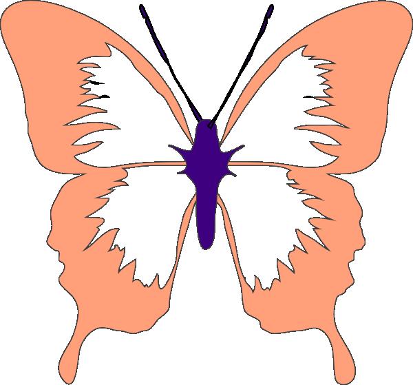 Peach clipart butterfly. Clip art at clker
