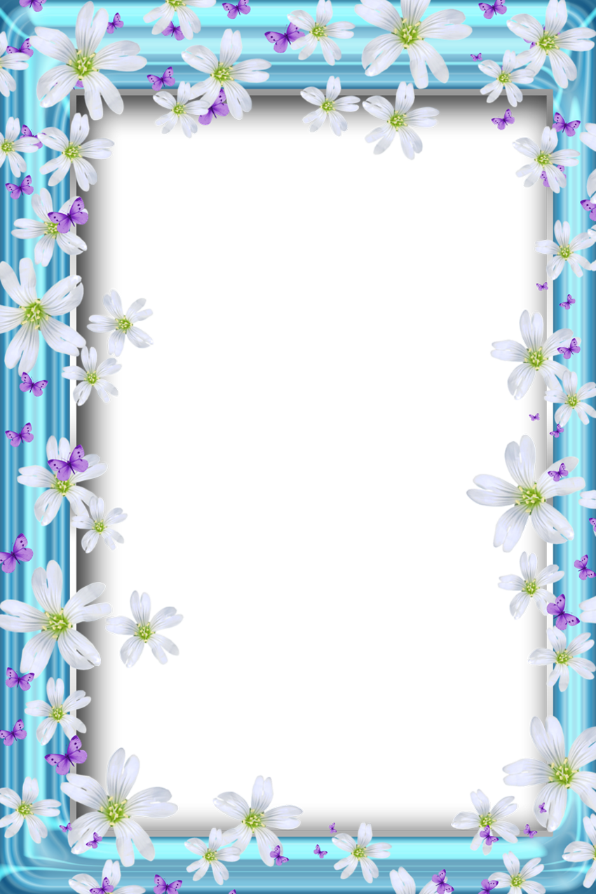 Clipart park frame. Transparent bue png with