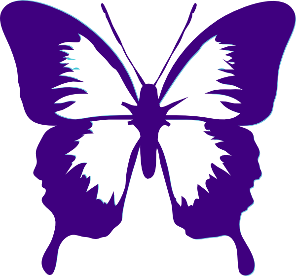 clipart shapes butterfly