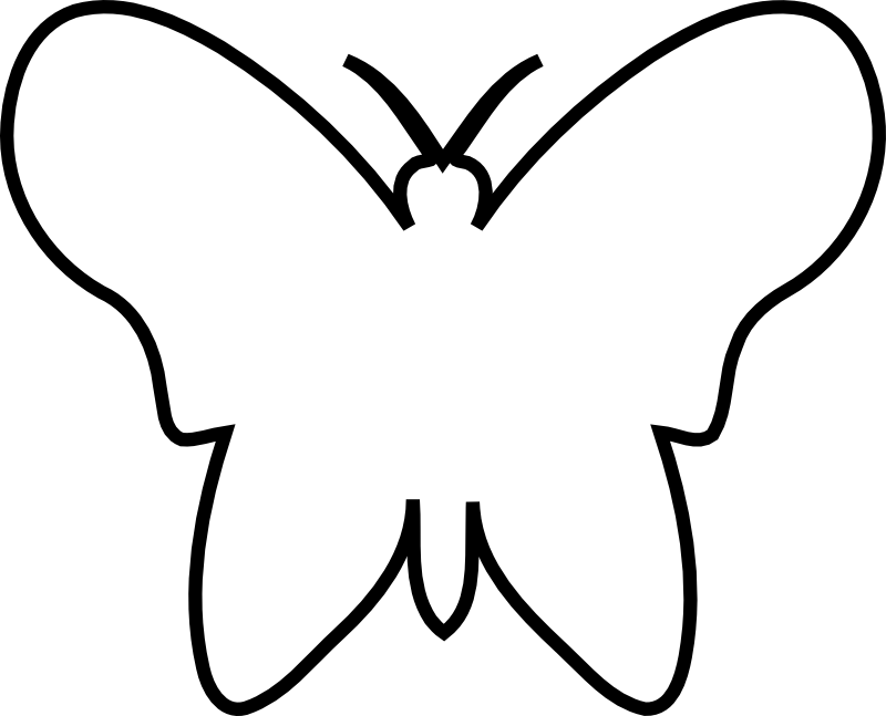 Clipart butterfly printable. Template cut out acur