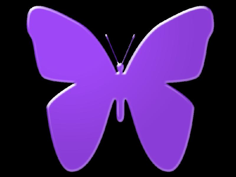 The top best blogs. Clipart butterfly purple