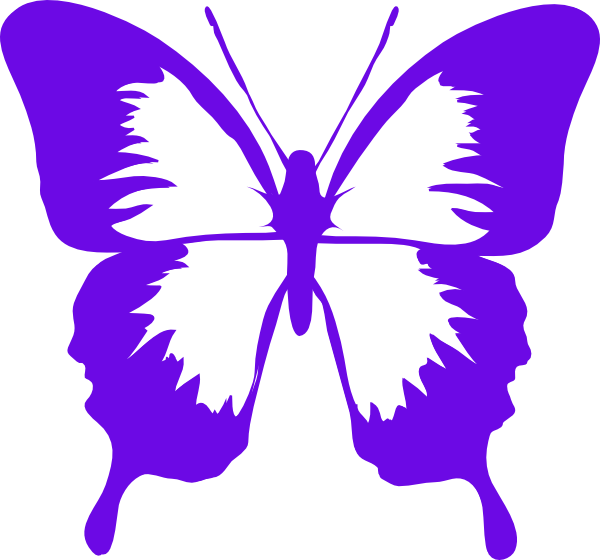 Clipart butterfly purple. Clip art at clker
