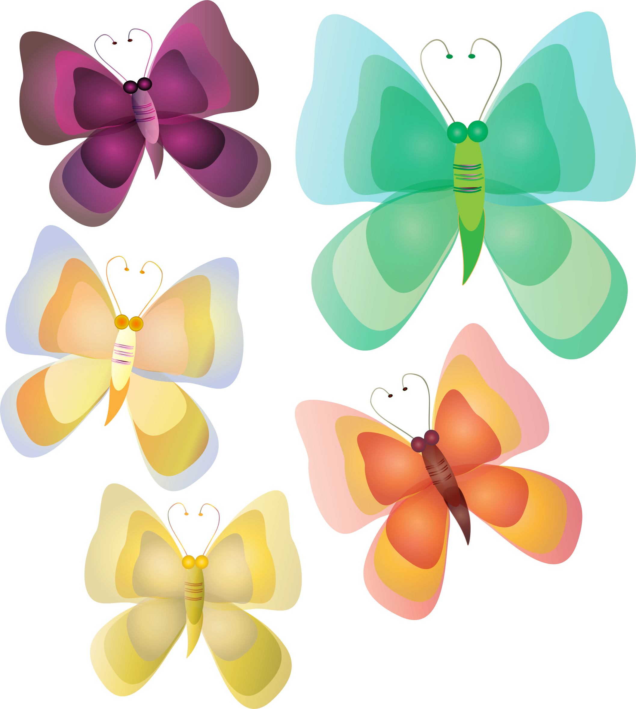 Not so butterflies big. Clipart butterfly realistic