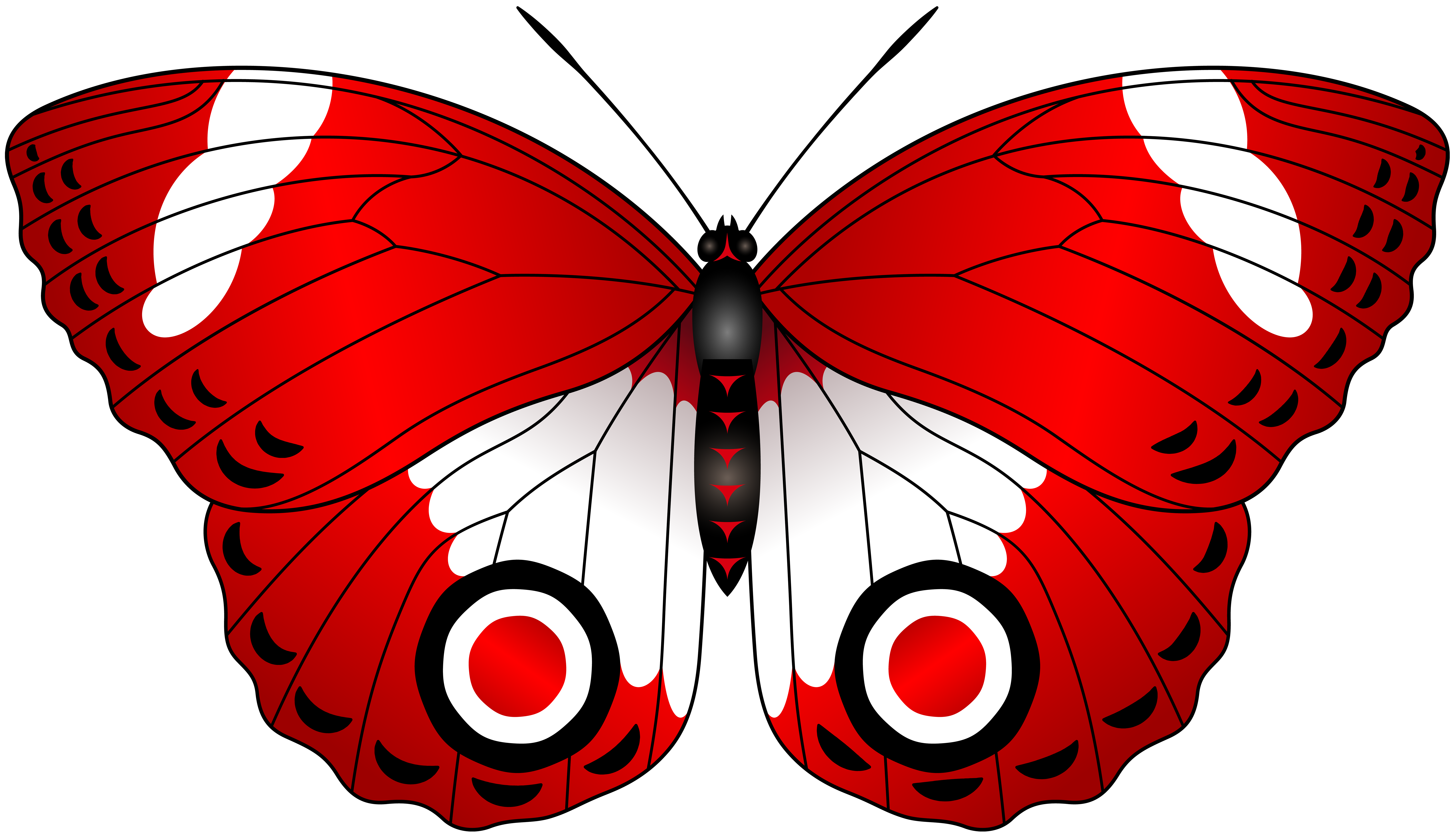 Clipart butterfly red. Transparent clip art image