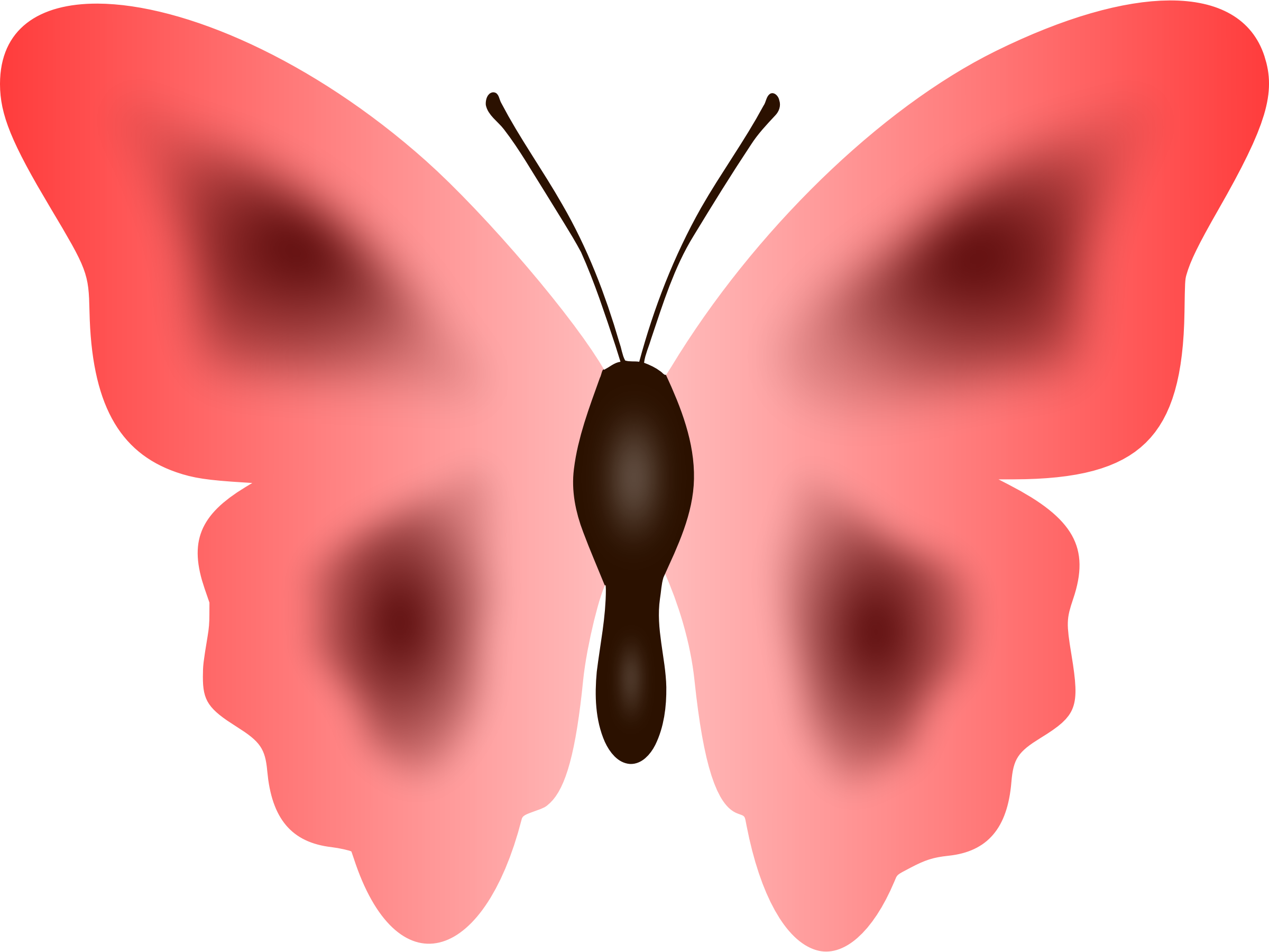 Clipart butterfly red. Colour big image png