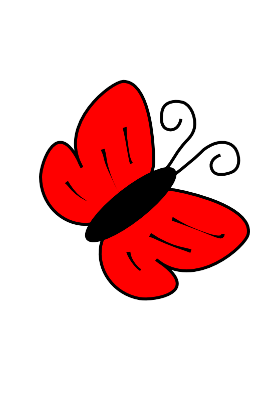Clipart butterfly red. Net panda free images