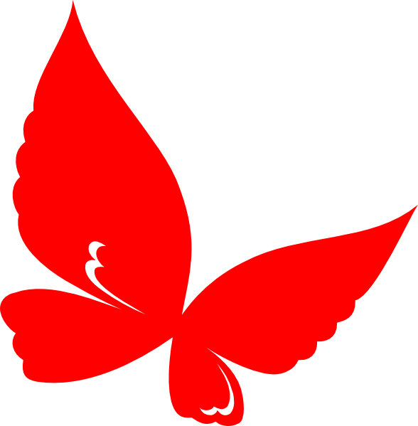 Clipart butterfly red. Clip art at clker