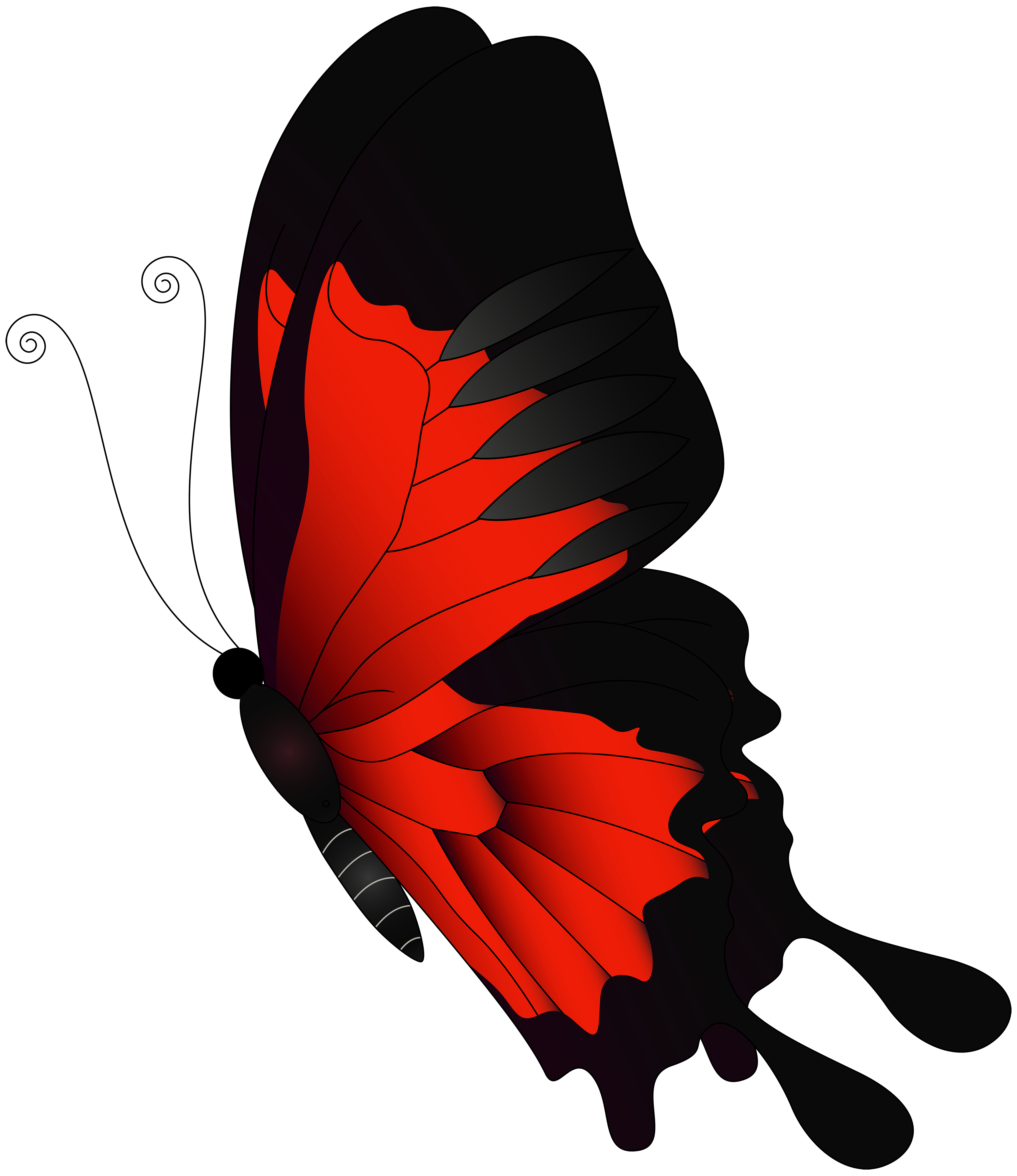 Flying clipart vaction. Red butterfly png clip