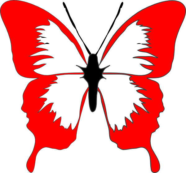 Clip art at clker. Clipart butterfly red