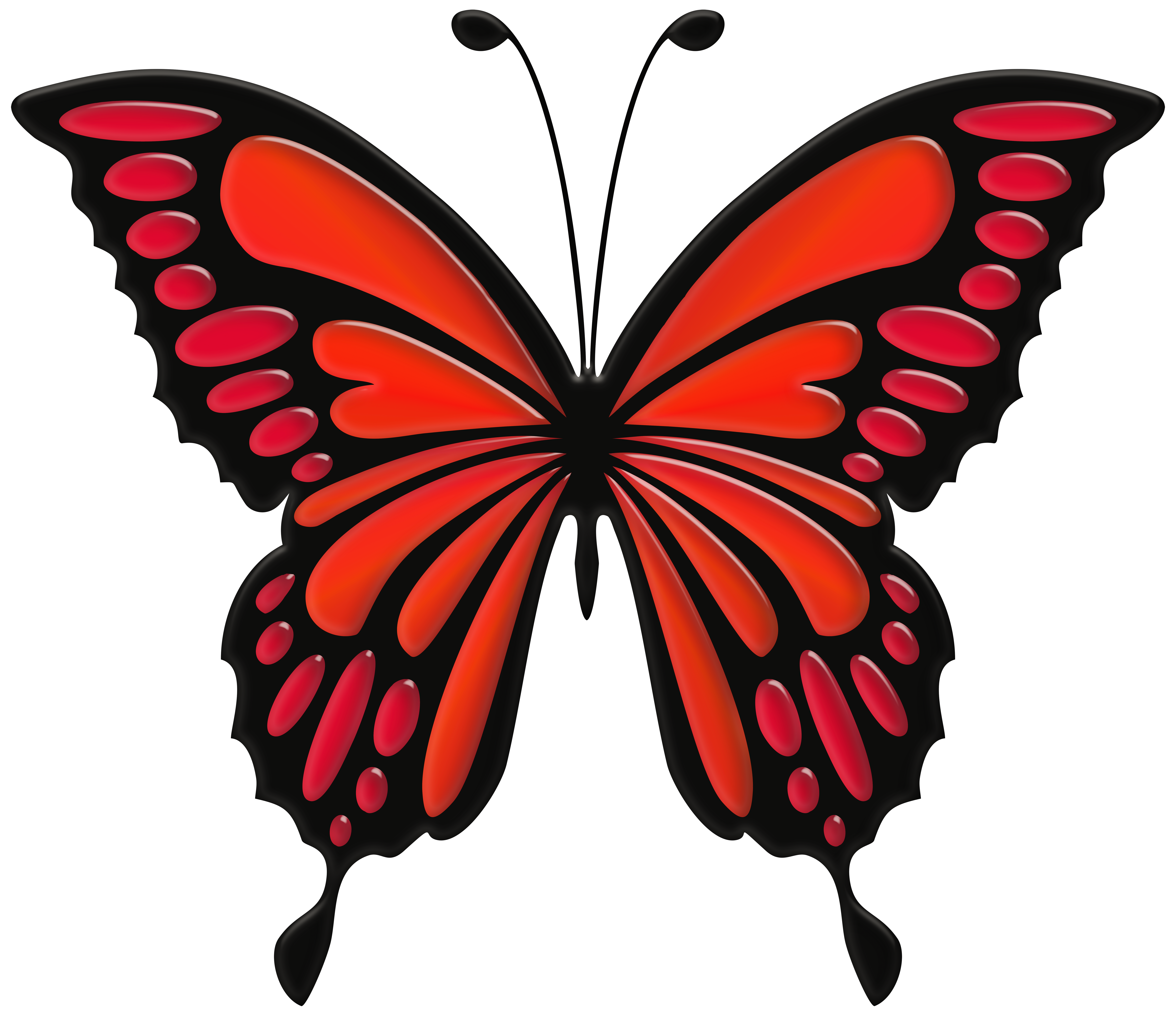 Png clip art image. Clipart butterfly red