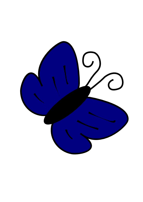 Navy clipart illustration. Light blue butterfly panda