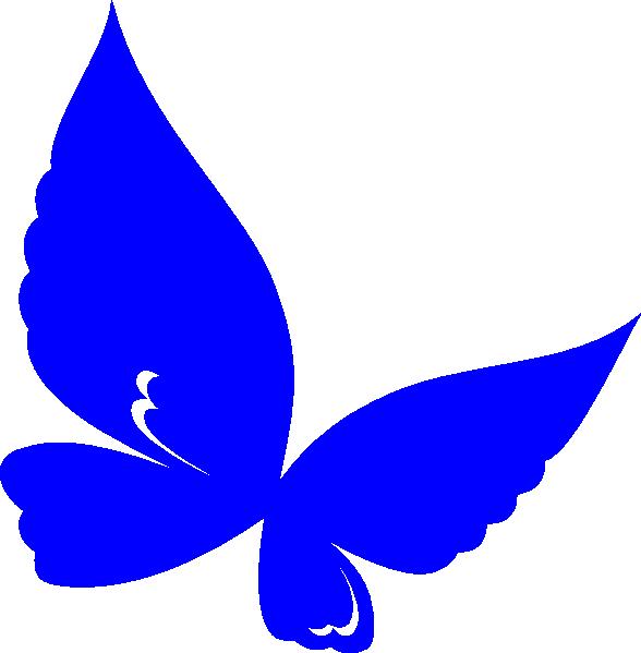 Clip art at clker. Clipart butterfly royal blue