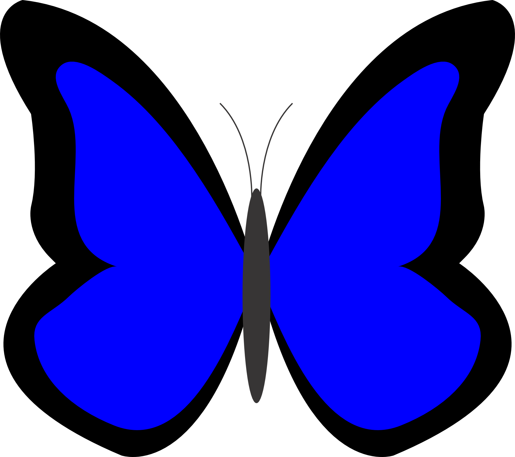 clipart butterfly royal blue
