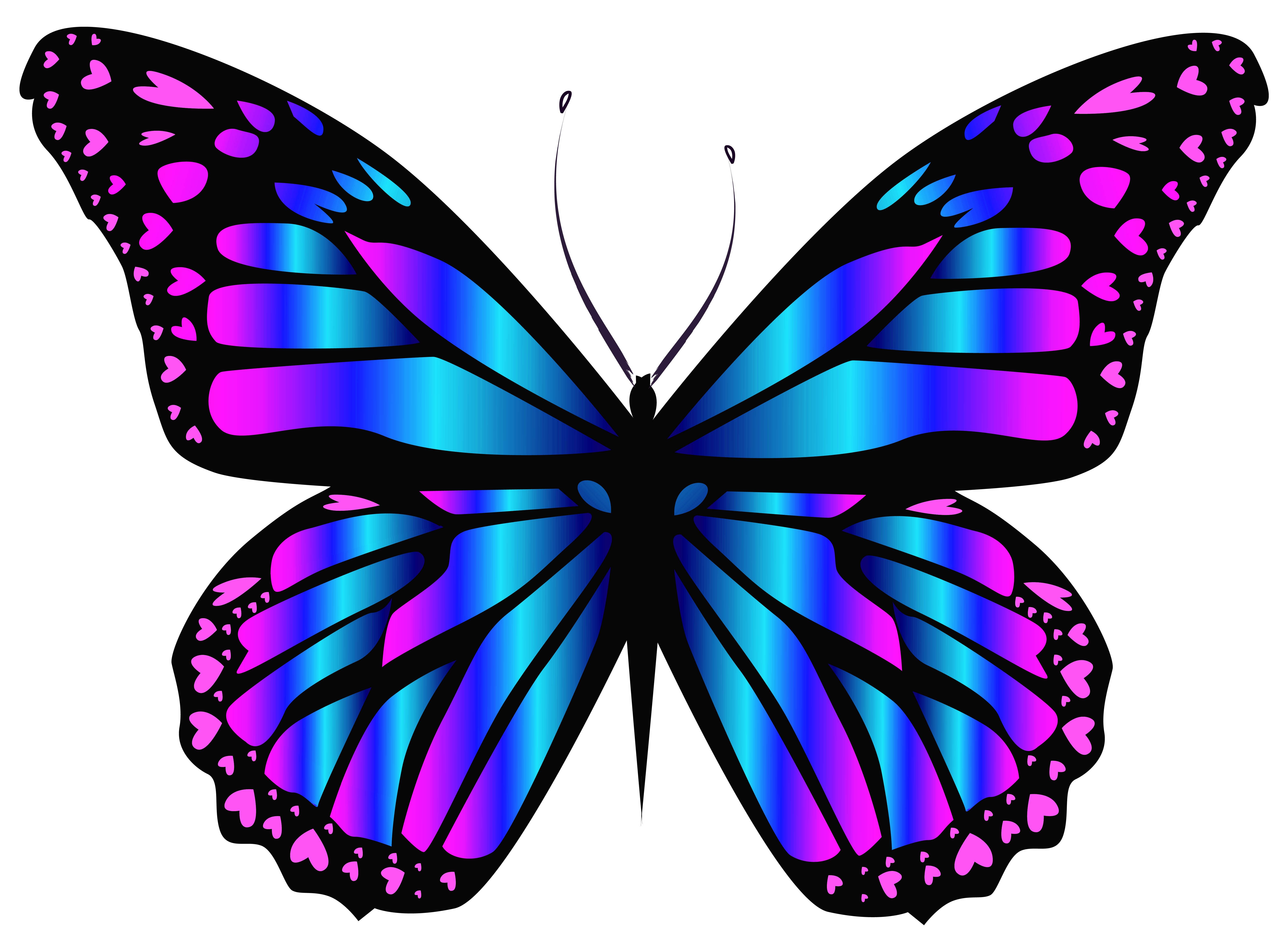 Clipart butterfly royal blue. And purple png clipar