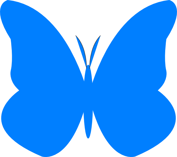Bright clip art at. Clipart butterfly royal blue
