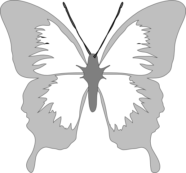 Butterfly clip art images. Clipart designs silver