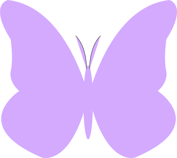 Bright clip art at. Clipart butterfly shape