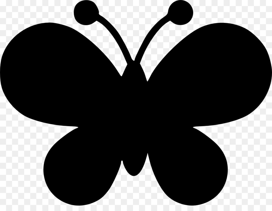 Silhouette drawing clip art. Clipart butterfly shape