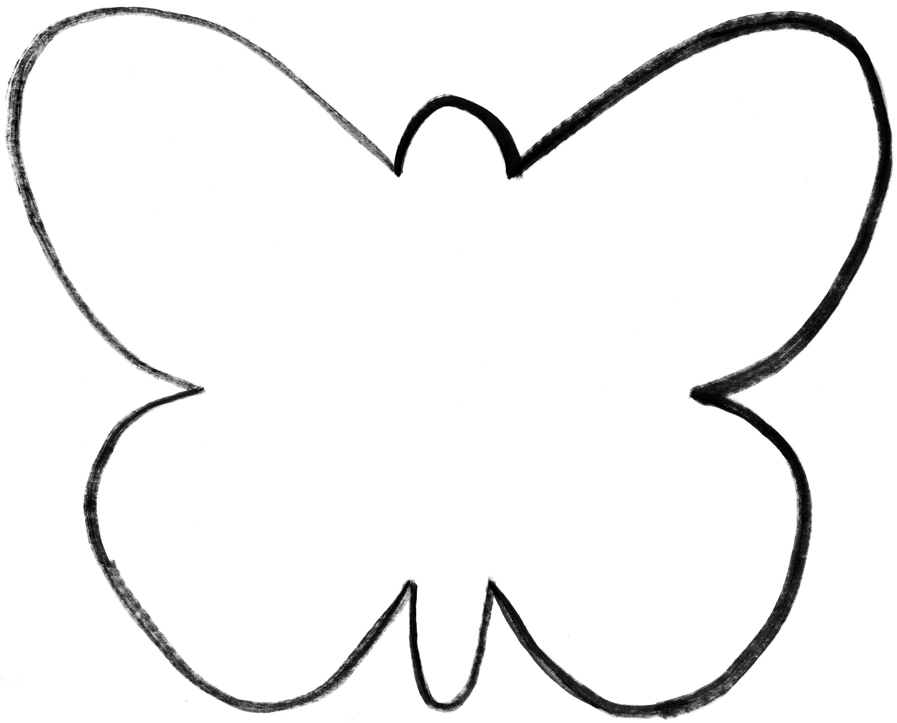 Outline free download best. Clipart butterfly shape