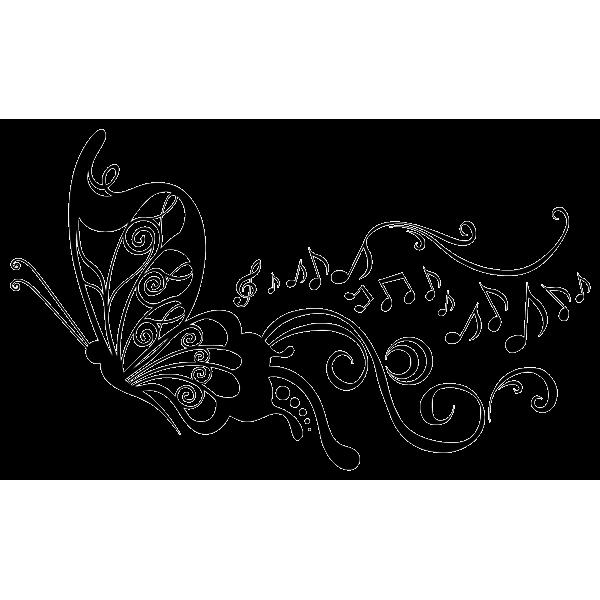 clipart butterfly swirl