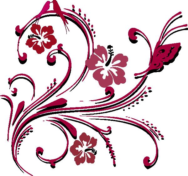 Butterfly scroll clip art. Filigree clipart fancy