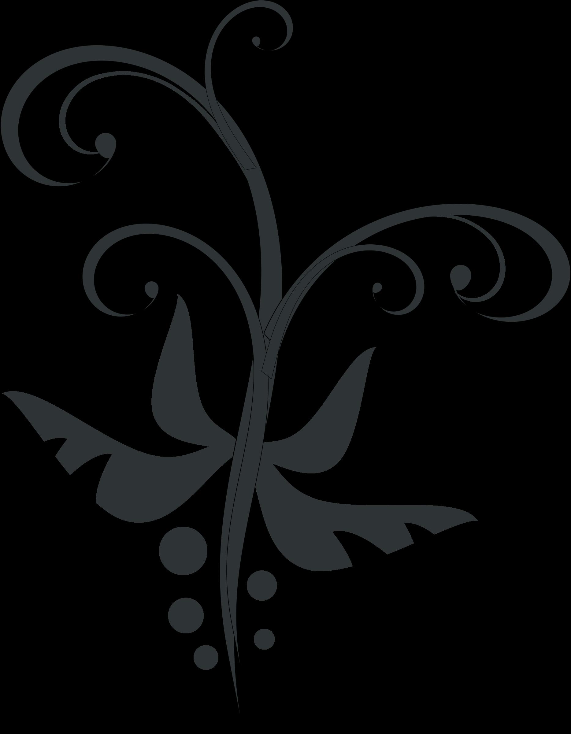 Clipart butterfly swirl. Swirls vegetal big image