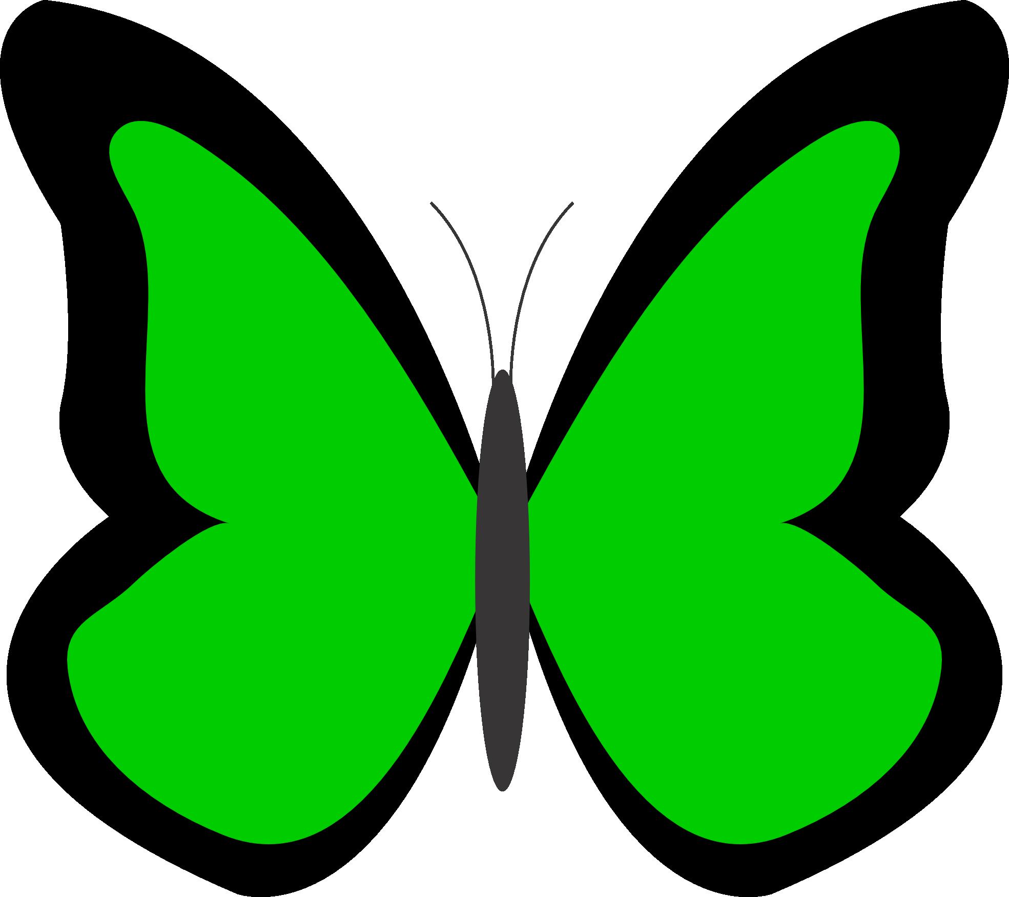 Crayons clipart big. Green butterfly panda free
