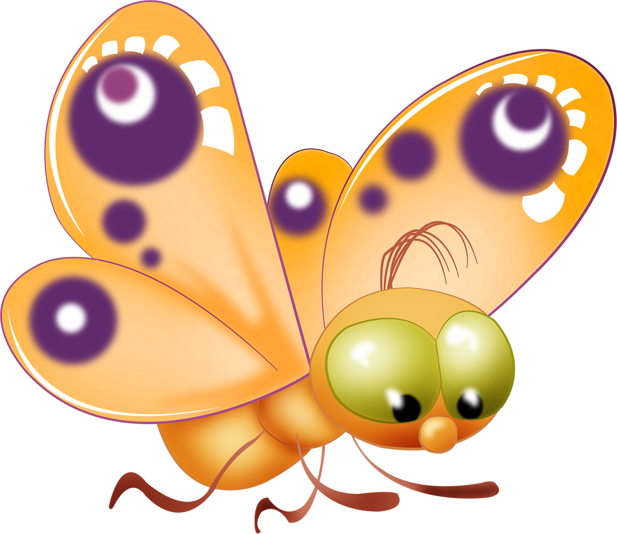 c a d. Clipart butterfly trail