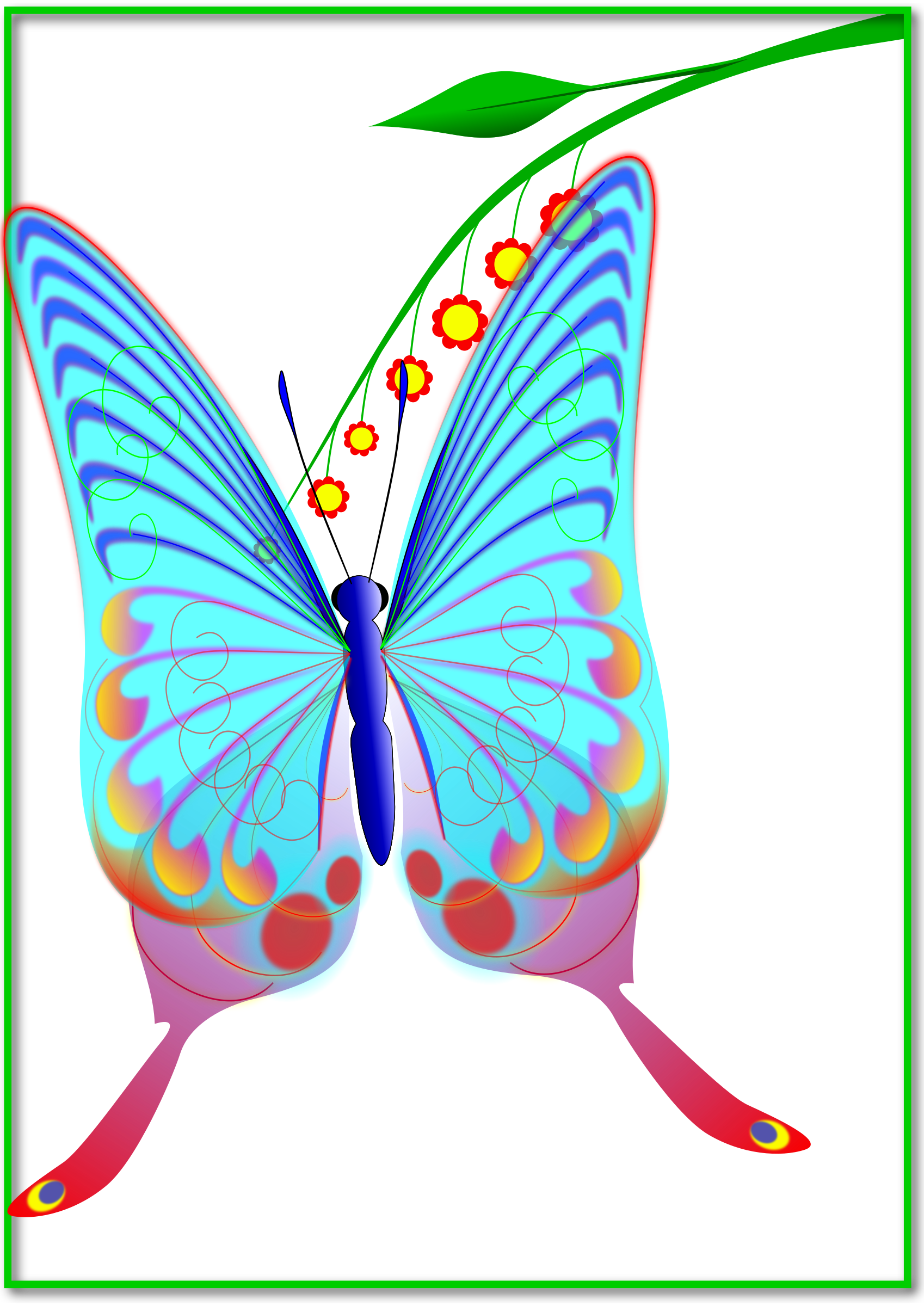 Clear wing big image. Clipart butterfly translucent