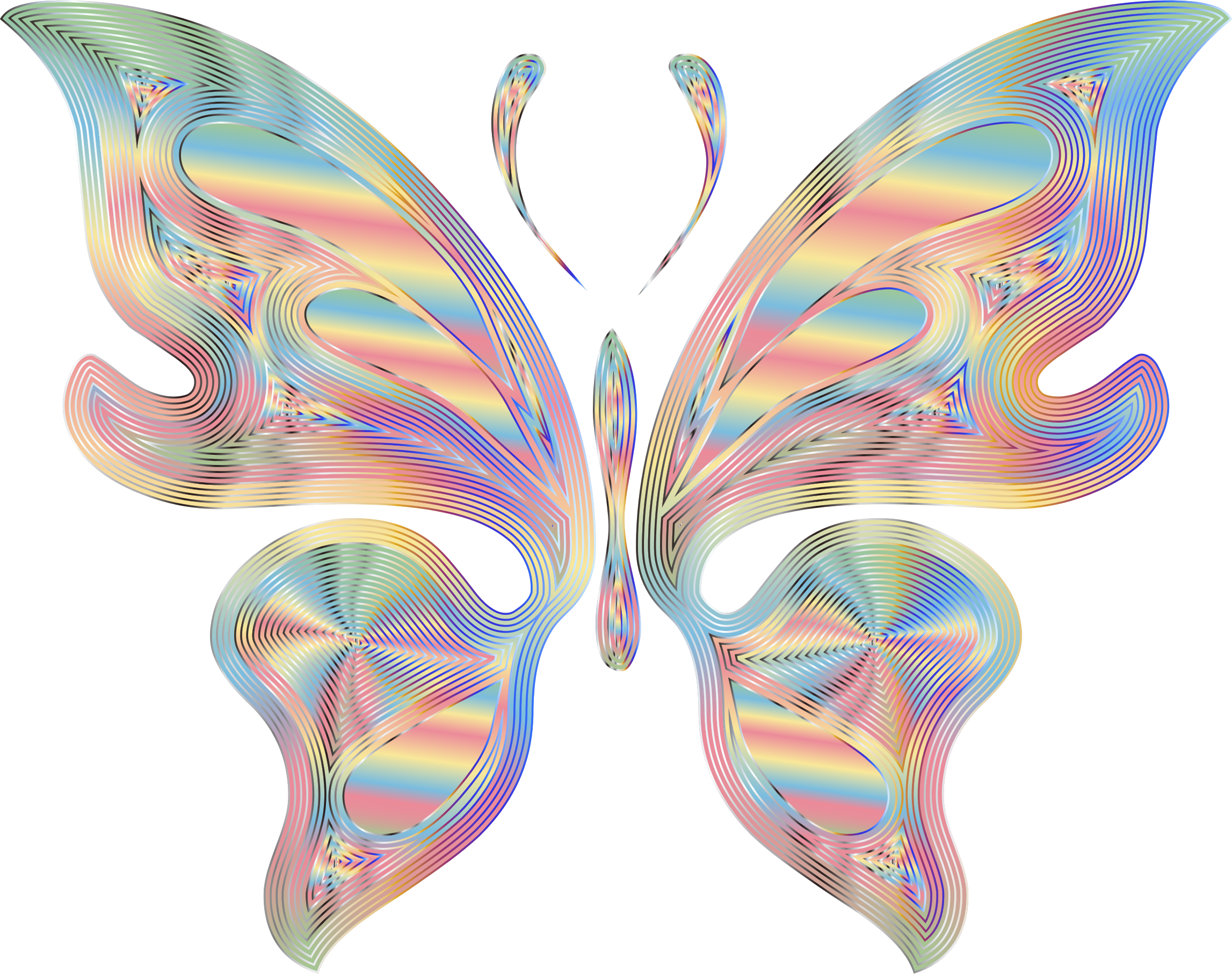 Prismatic variation no background. Fairies clipart butterfly