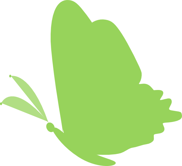 Green clip art at. Clipart tree butterfly