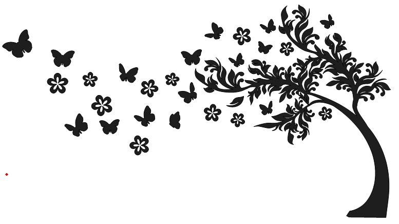 Pin by mallan on. Tree clipart butterfly
