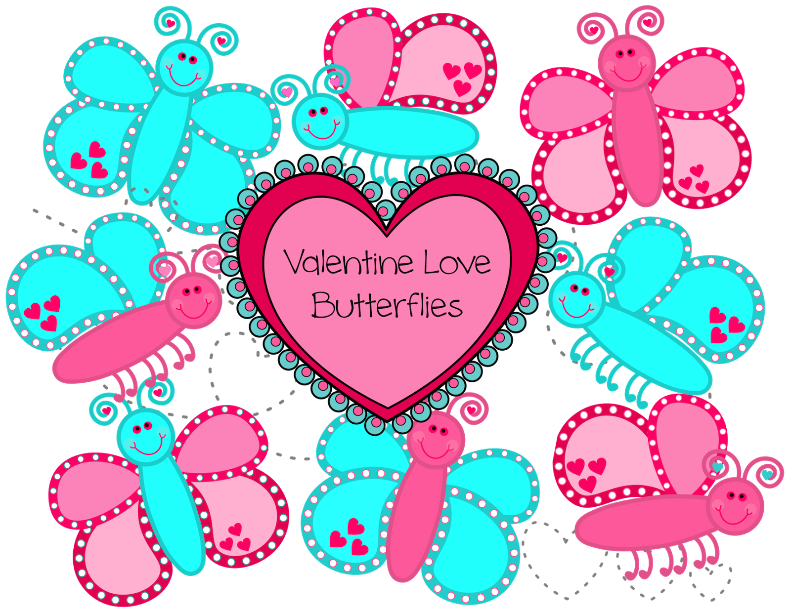 Clipart butterfly valentines. Classroom treasures clip art