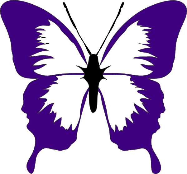Purple clip art at. Clipart butterfly violet