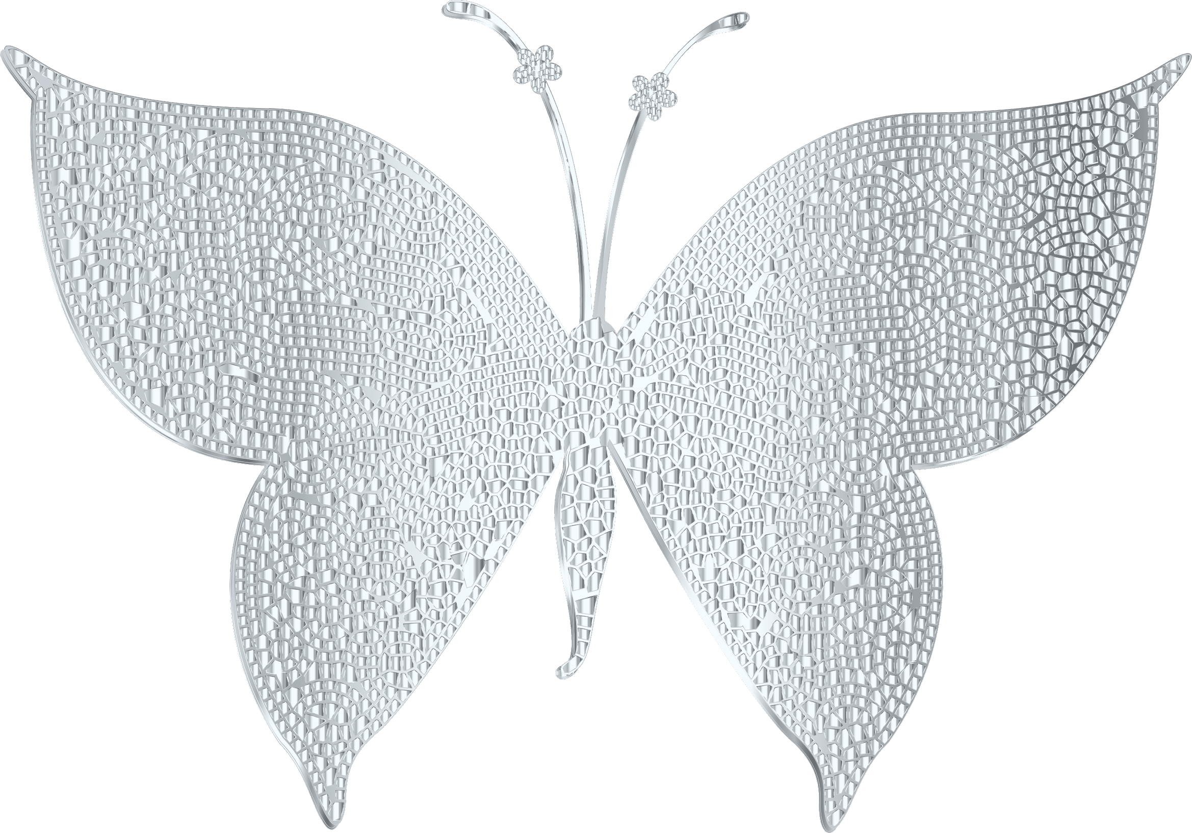Silver clip art images. Crown clipart butterfly