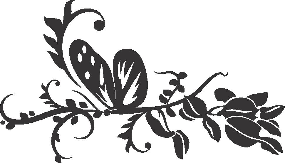 clipart butterfly wedding
