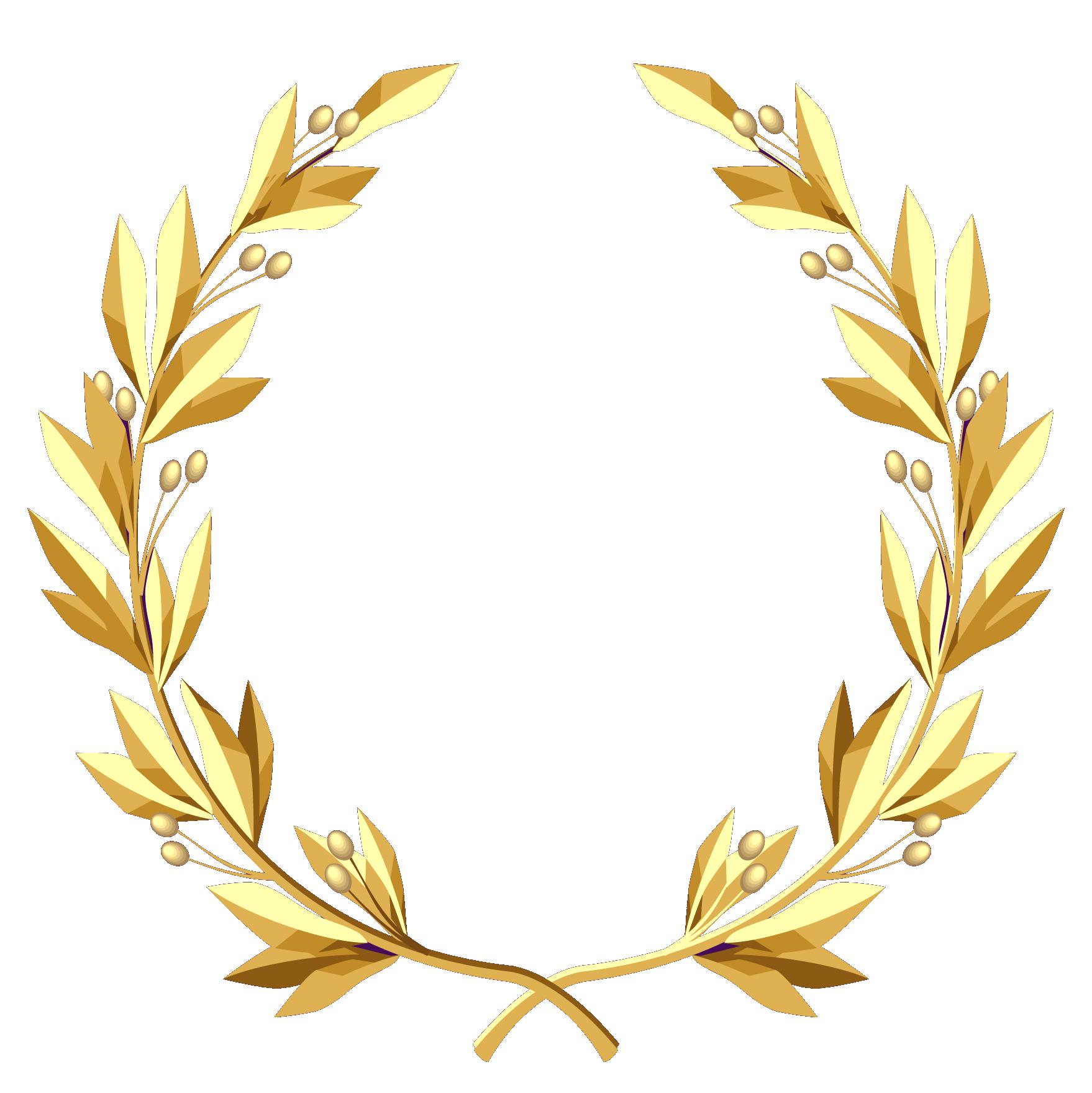 Greek clipart laurel wreath. Transparent gold png picture
